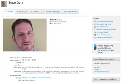 QlikCommunity Profile