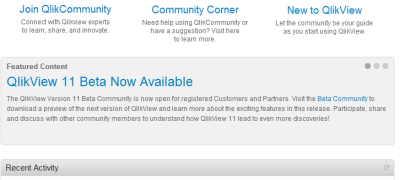 QlikView 11 Beta Available