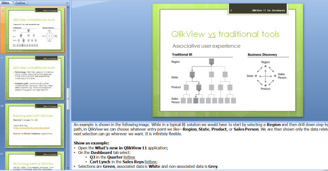 QlikView vs Traditional