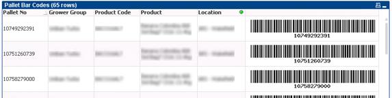 QlikView Bar Code Table