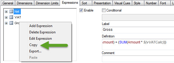 Copy QlikView Expression