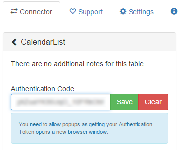 QVSource Calendar SettingsQVSource Calendar Settings