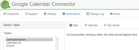 QVSource Connector Settings