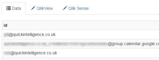 QVSource Web Edition Data View