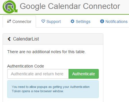 QVSource Web Edition Calendar Authenticate