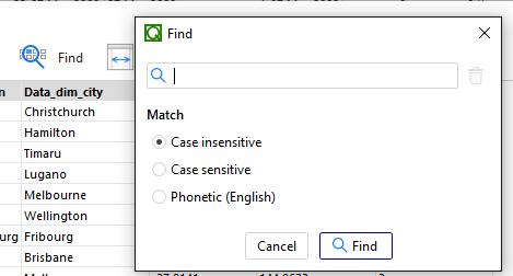 QViewer Find Dialog