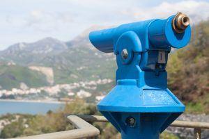 Telescope on the Adriatic sea