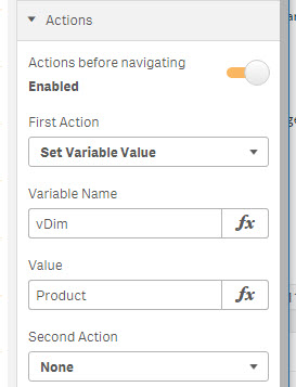 Sense Button Actions