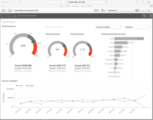 Qlik Sense Finance Dashboard