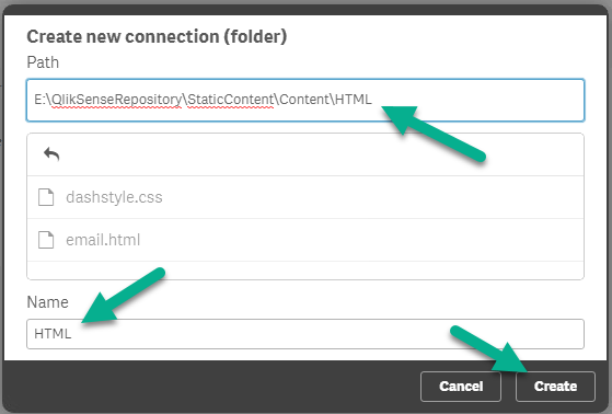 Specify content folder location