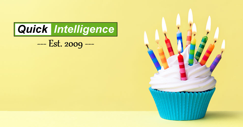 Quick Intelligence Logo and Cupcake