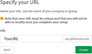 Specify Your URL