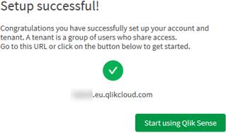 Qlik Sense Business Setup Successful