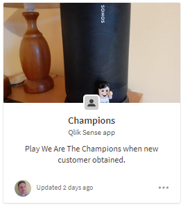 Champions Qlik Sense App