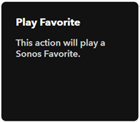 Play Sonos Favourite