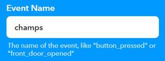 IFTTT Webhooks Event Name