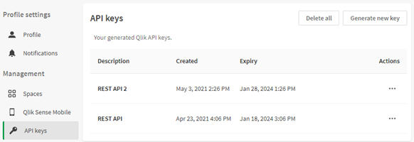 API Key Settings